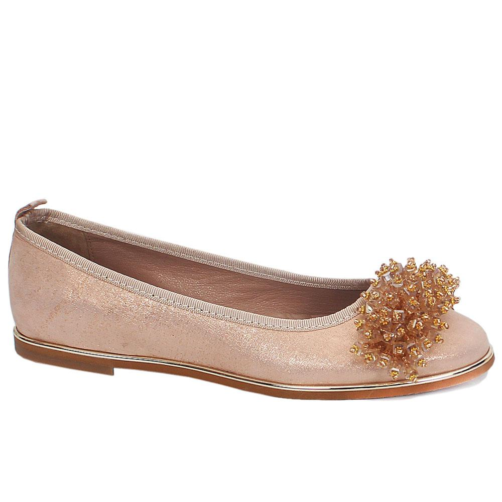 Nude Magnum Leather Flat Shoes
