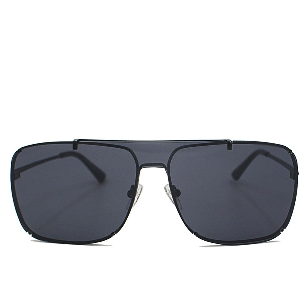 Black Aviator Rimless Sunglasses