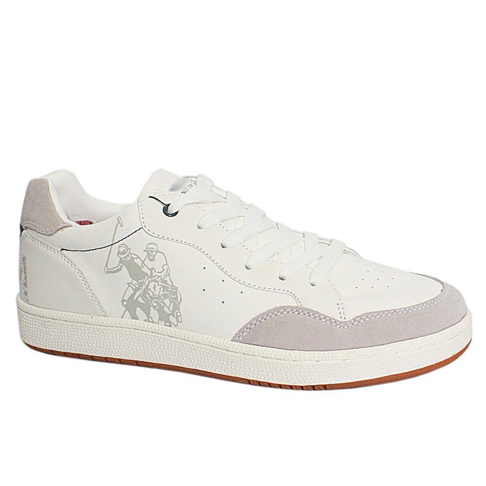 White Rikon Club Leather Breathable Sneakers