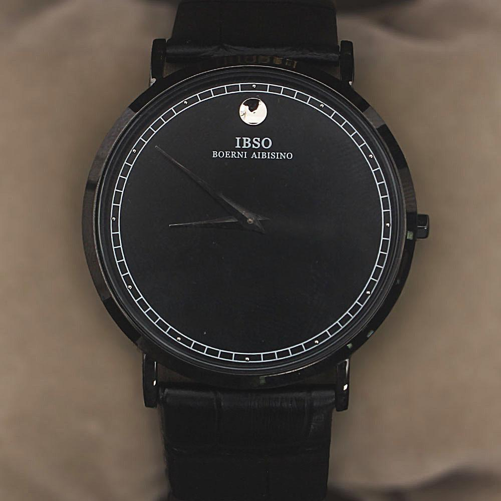 Vintage Black Croc Leather Watch