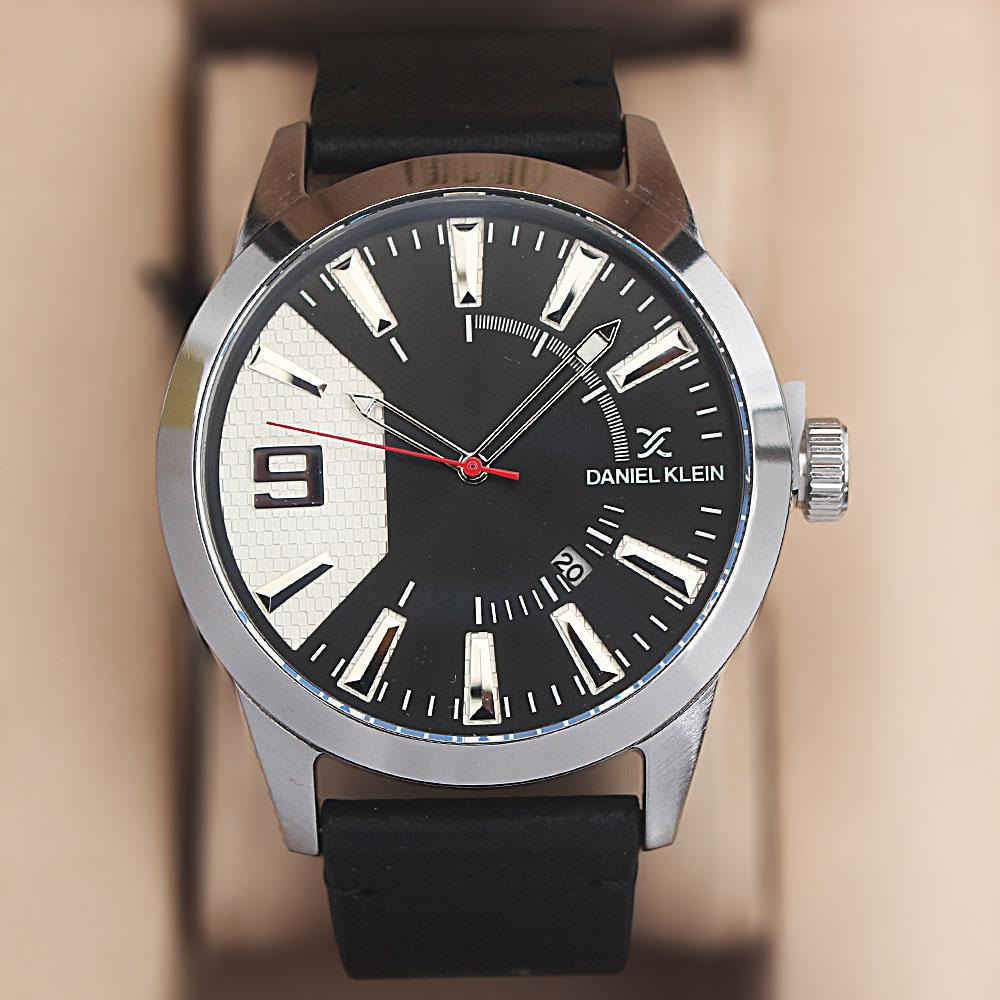 Daniel Klein Black Leather Watch