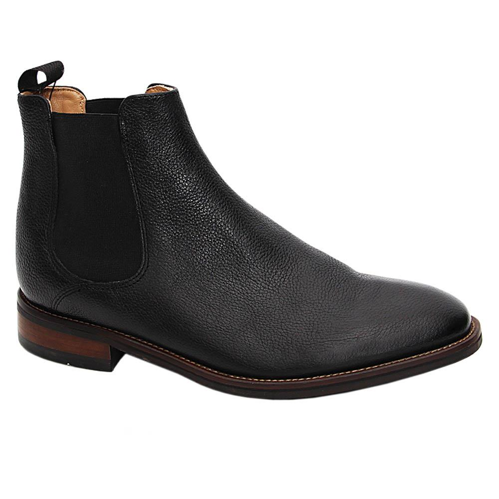 Black Lucas Graham Leather Chelsea Boot