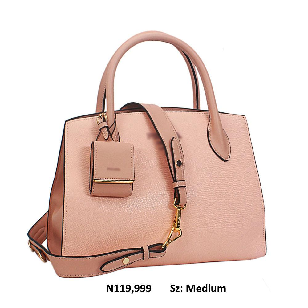Luna Daisy Premium Peach Saffiano Leather Tote Handbag