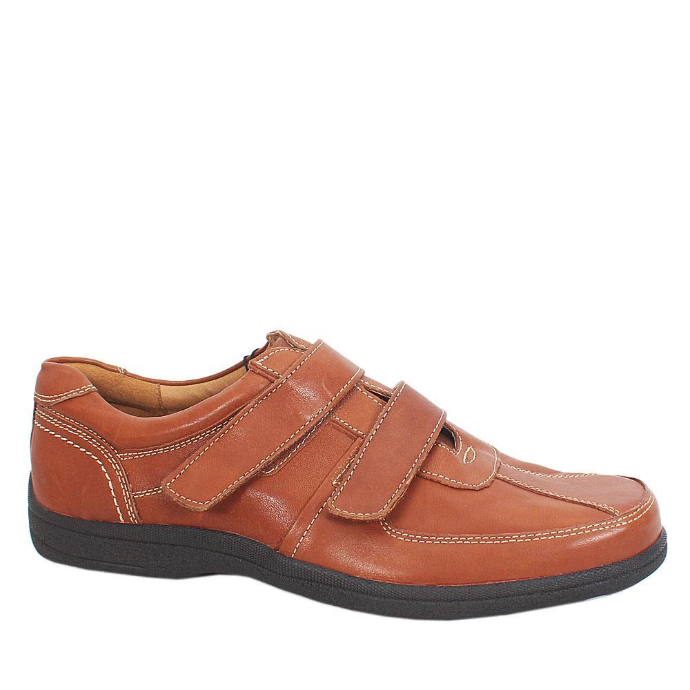 M & S Airflex Brown Leather Men Shoe Sz 42