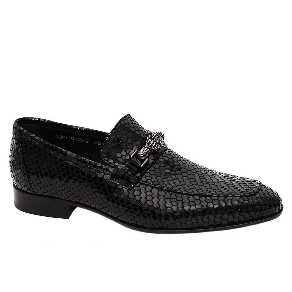 Black Harold Patent Italian Leather Loafers