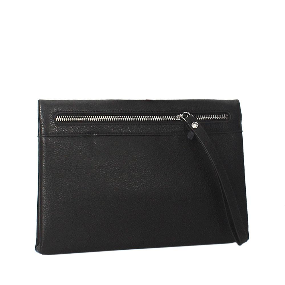 Black Montana Leather Man Flat Purse