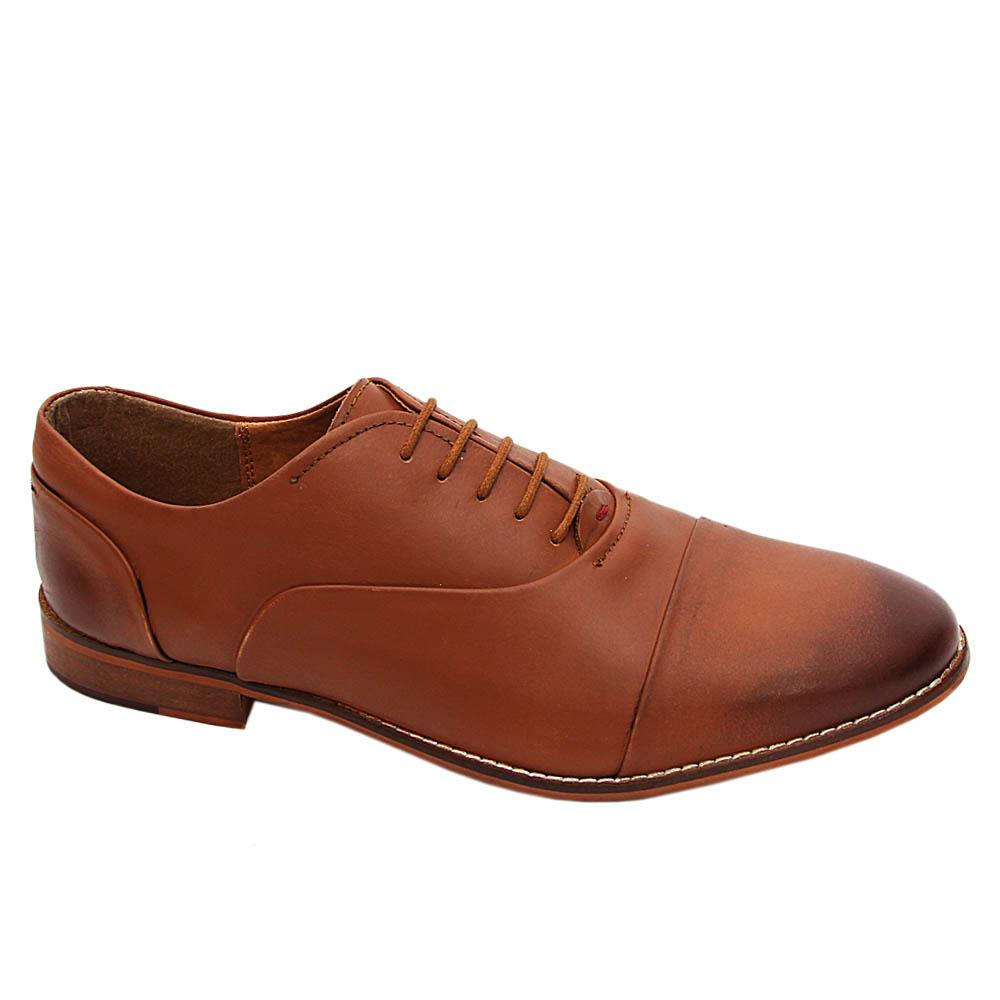 K Geiger Brown Malcolm Leather Oxford Shoe