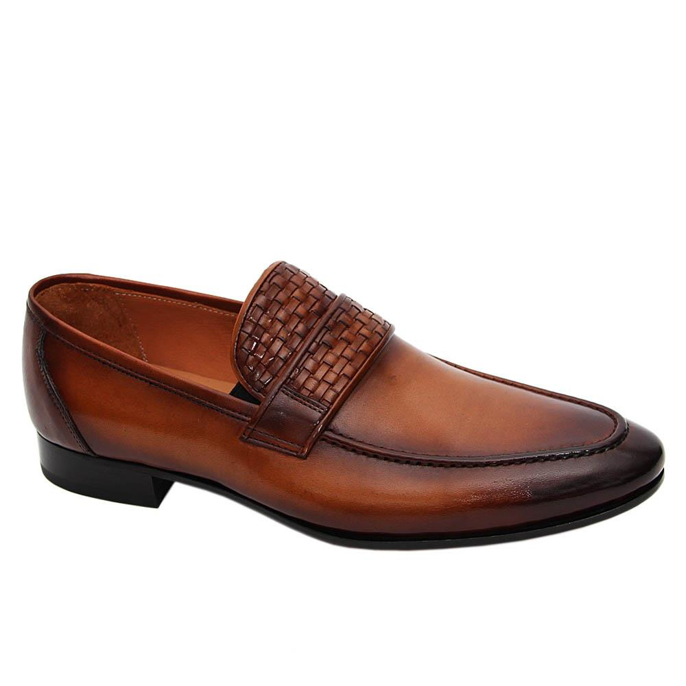 Brown Mercellino Italian Leather Loafers