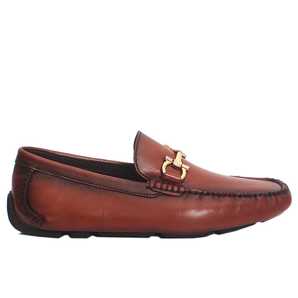 Brown Allegri Italian Leather Loafers
