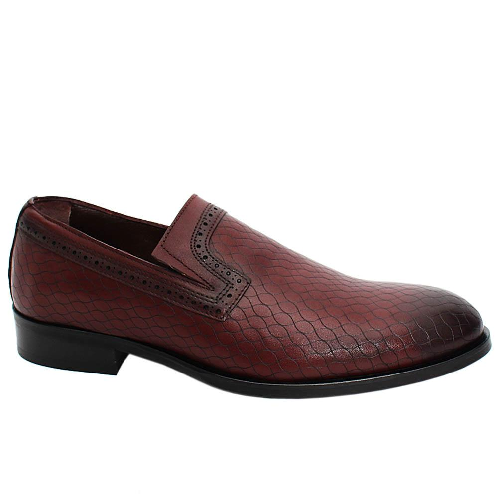 Wine Alistair Leather Men Penny Loafers
