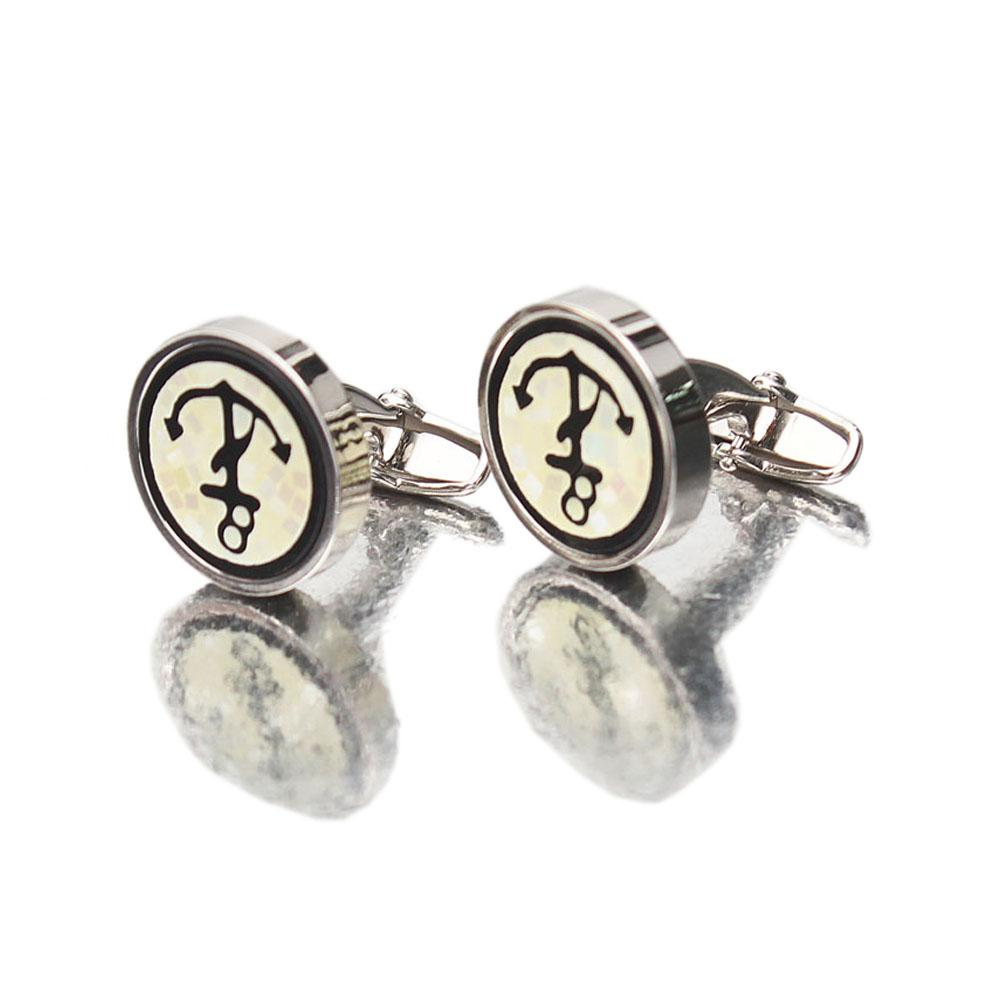 Platinum Silver Men Cufflinks