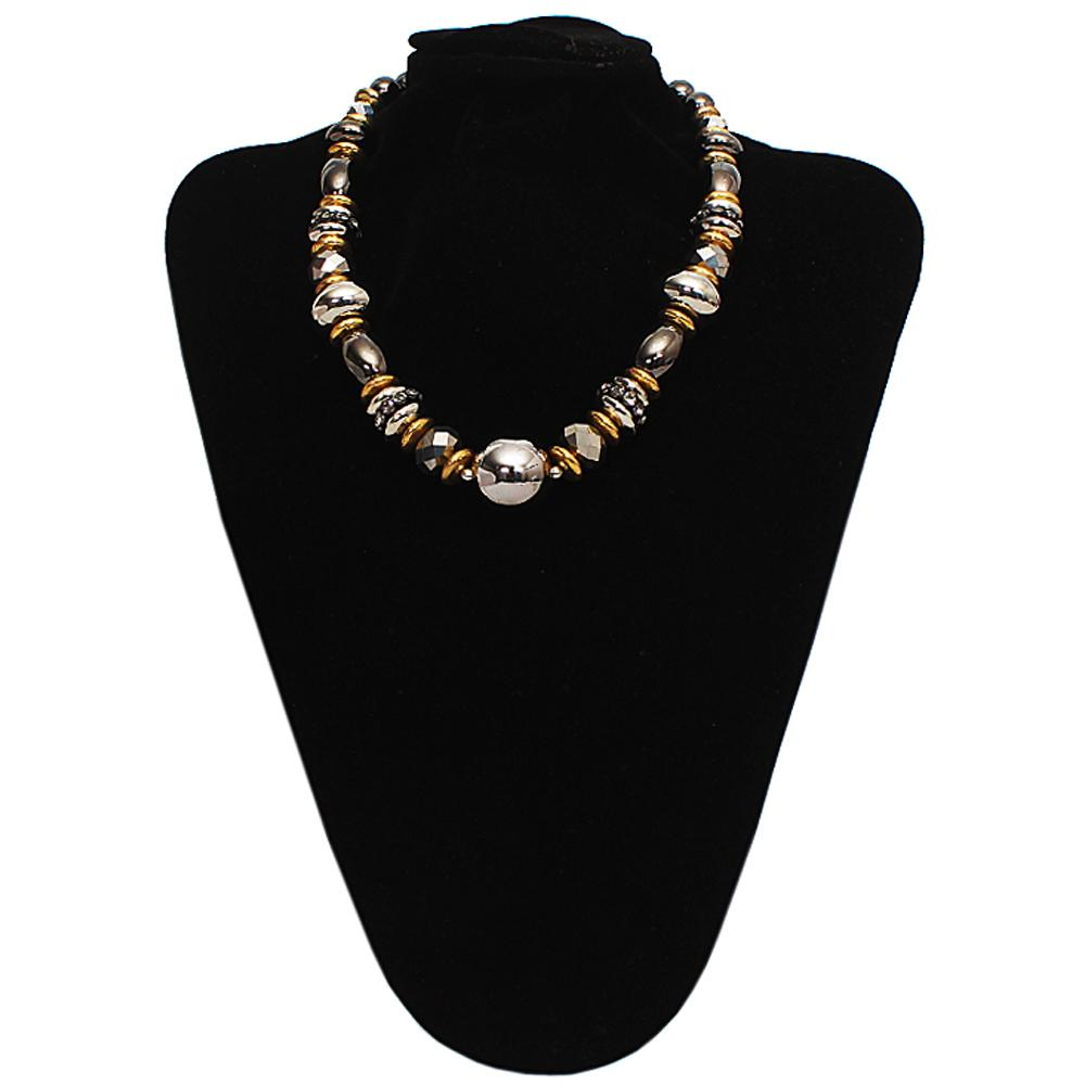 Gold Black Pearl Neckl-