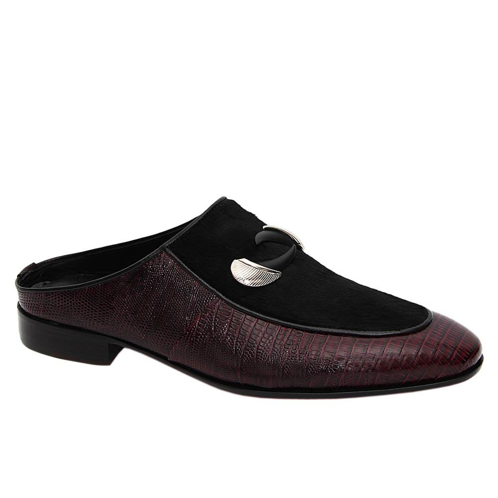 Purple Black Dylan Italian Leather Half Shoe