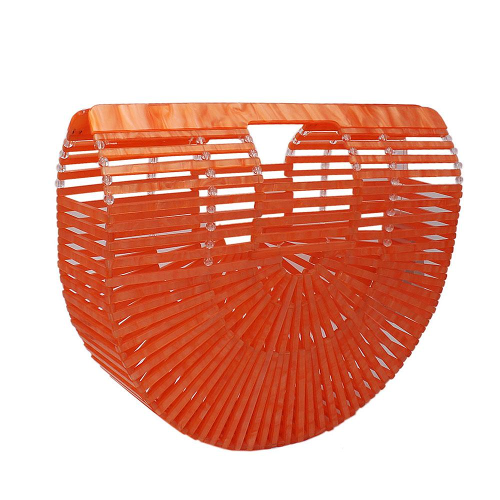 Orange Ark Acrylic Clutch Purse