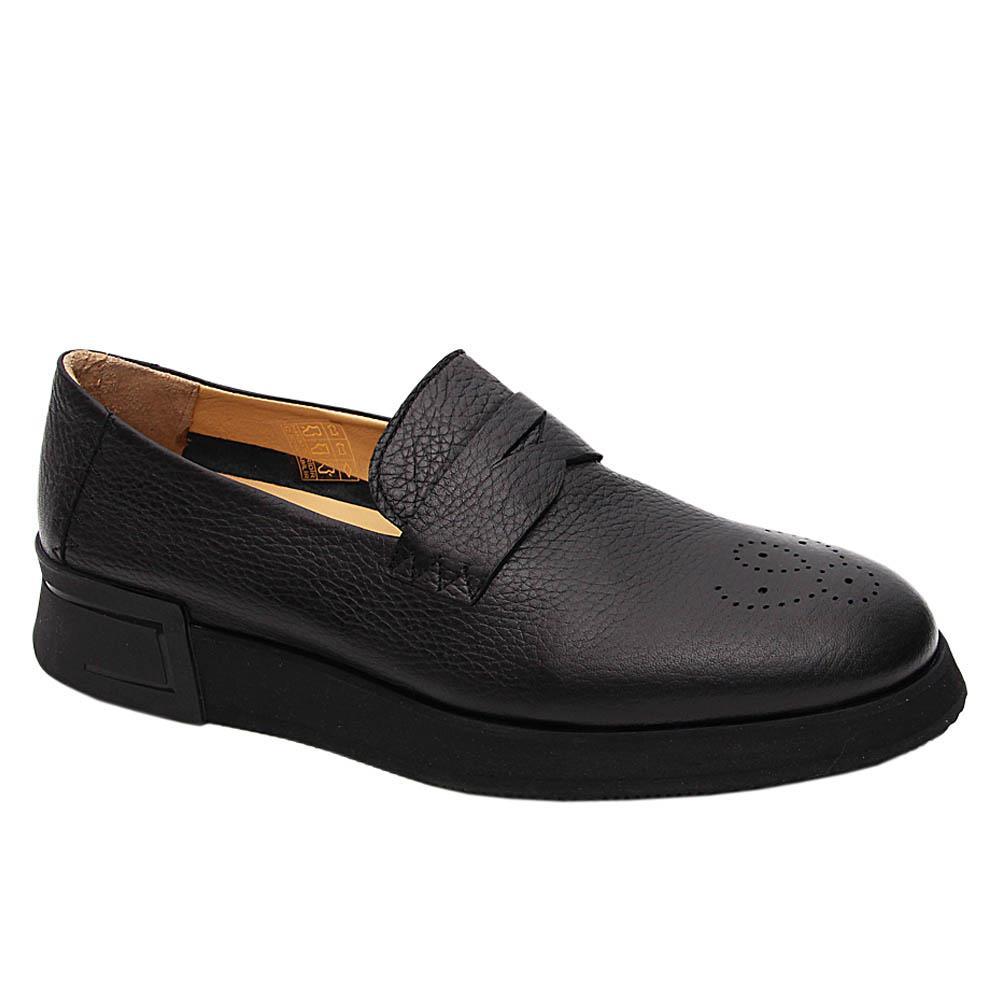 Black Dario Italian Leather Comfort Sole Sneakers