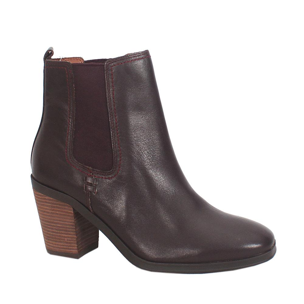 Wine Leather Ladies Boot