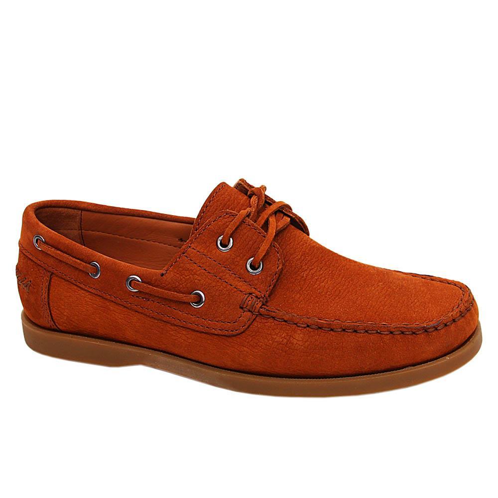Brown Octavio Nubuck Italian Leather Boat Shoe