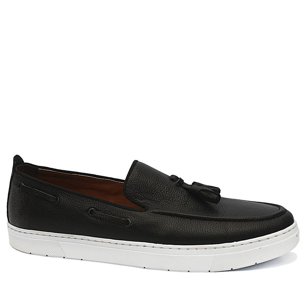 PC Collection Black Bernard Leather Sneakers