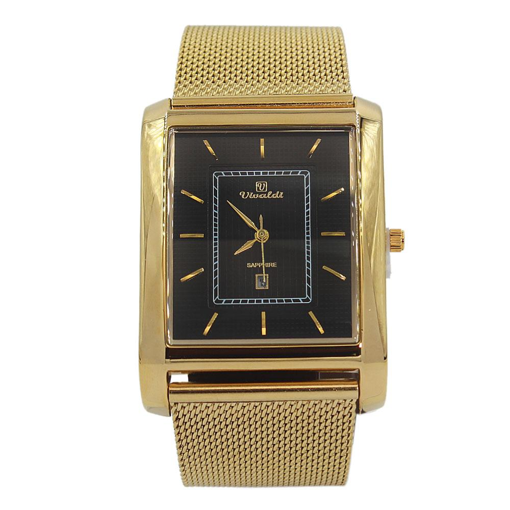 Gold Black AlexiMesh Watch
