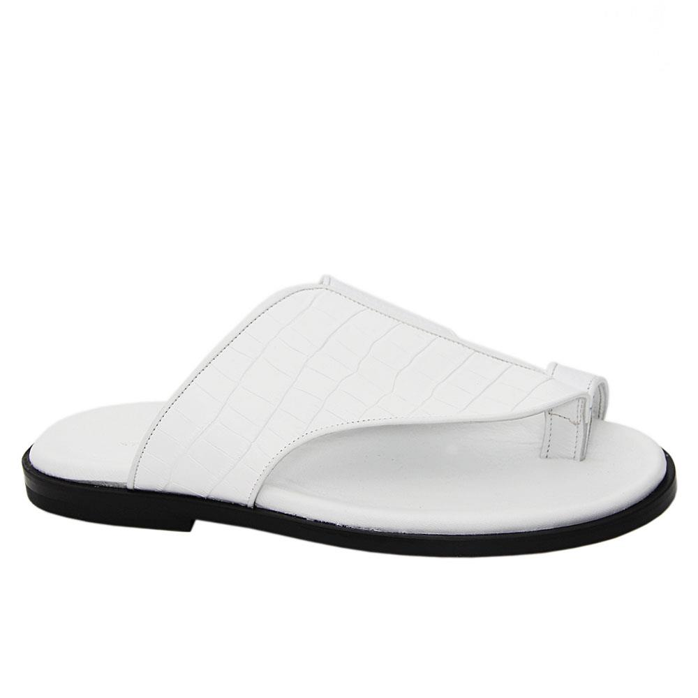 White Frediano Italian Leather Slippers