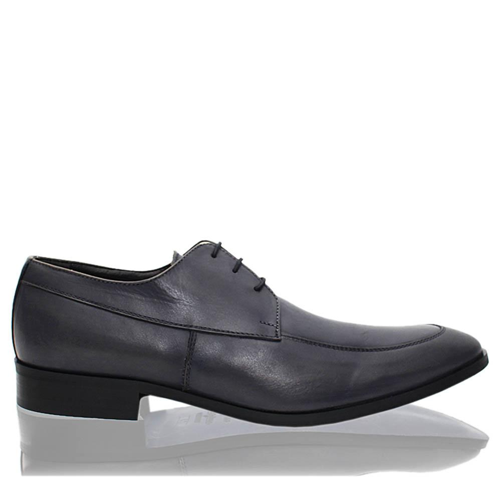 Gray Leonce Italia Leather Men Derby Shoes