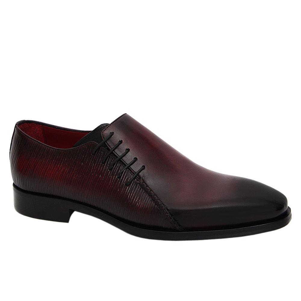 Wine Jason Italian Leather Oxford Shoe