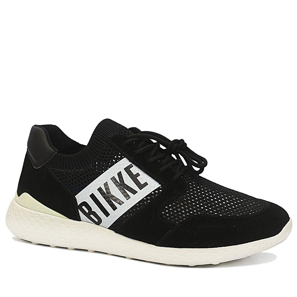 Bergs Black Striker Suede Leather Breathable Sneakers