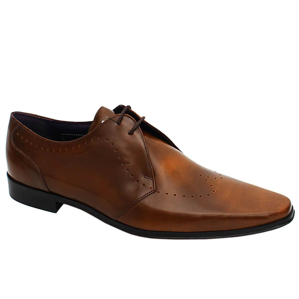 Brown Marcus Leather Men Derby Shoe