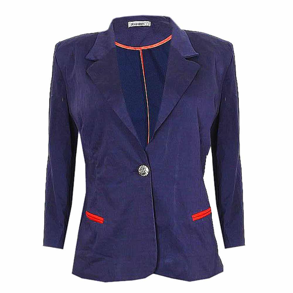 Navy Ladies Fitted Jacket Eur 48