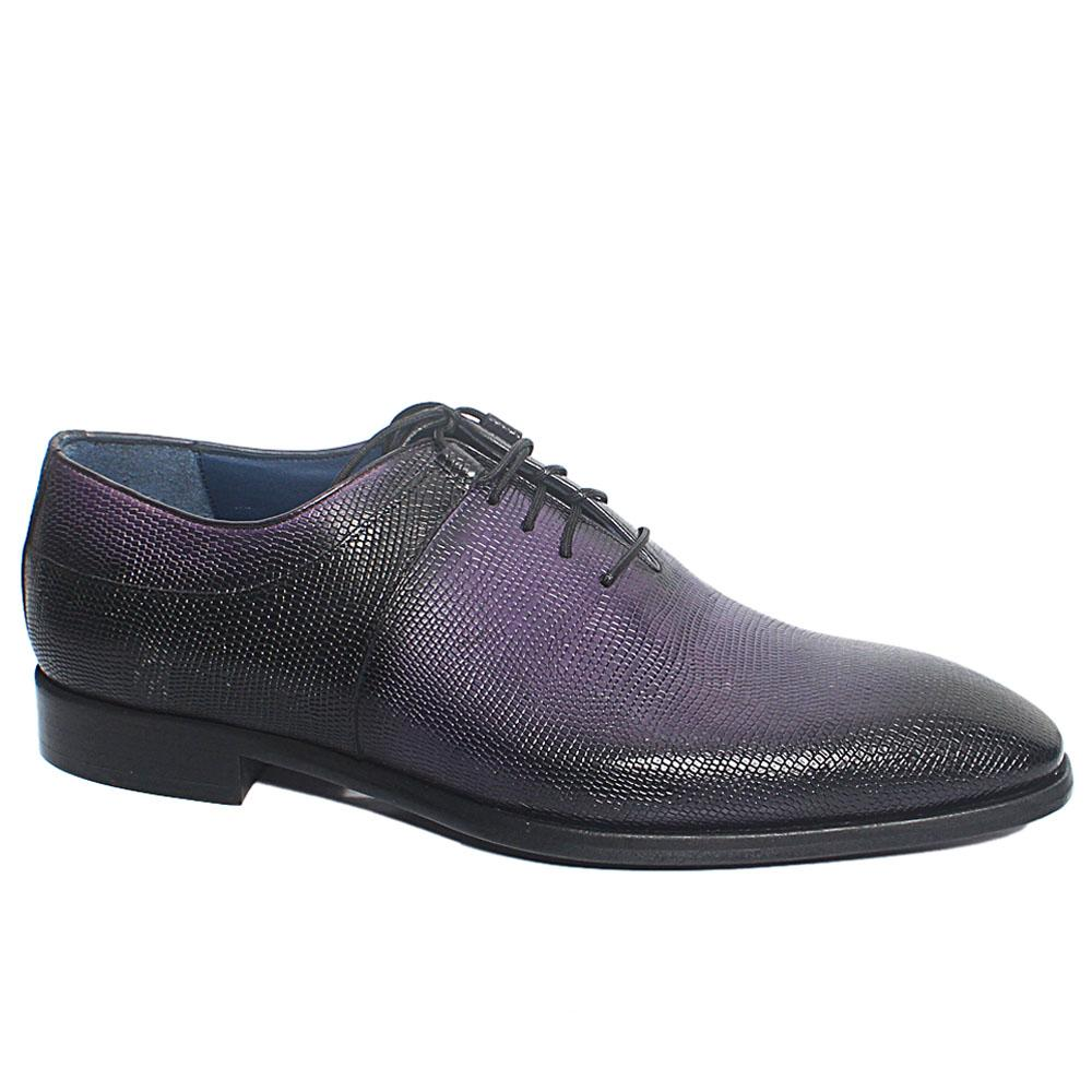 Purple Black Chris Italian Leather Men Oxford Shoes