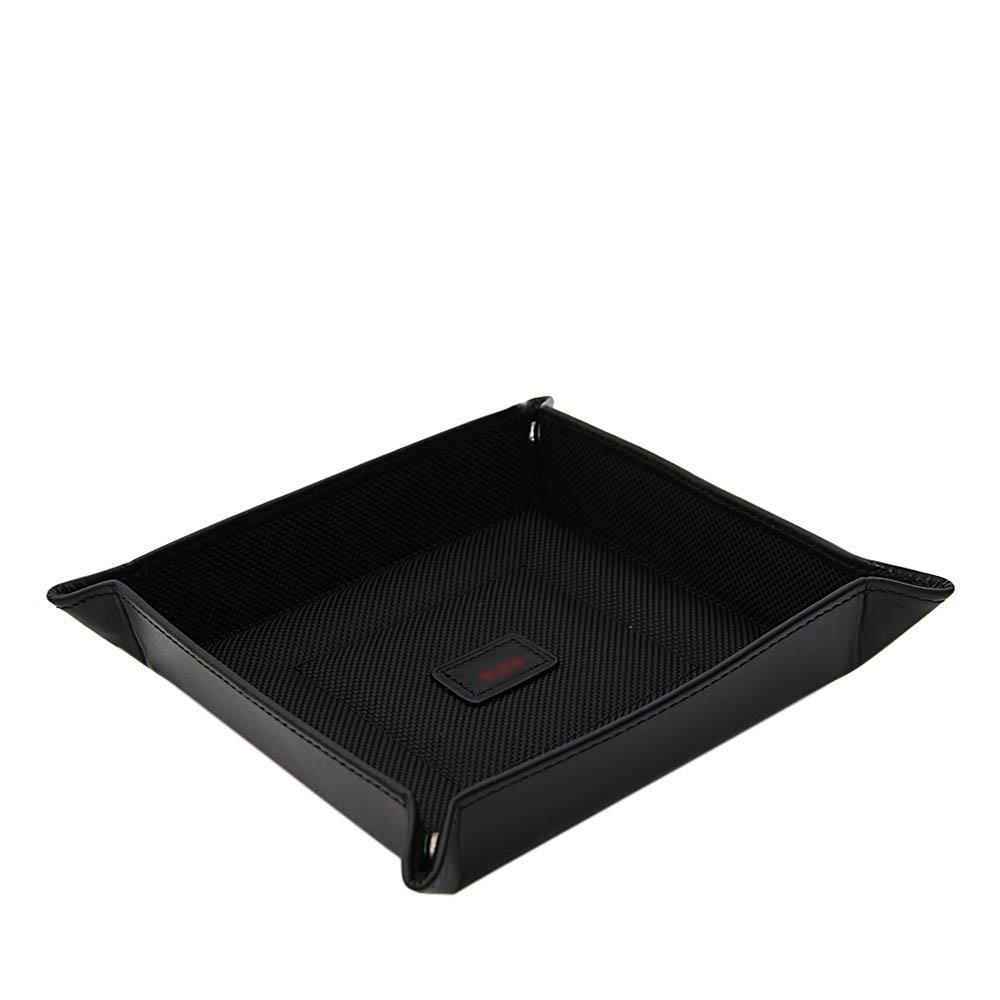 Black Marcus Leather Tidy Tray