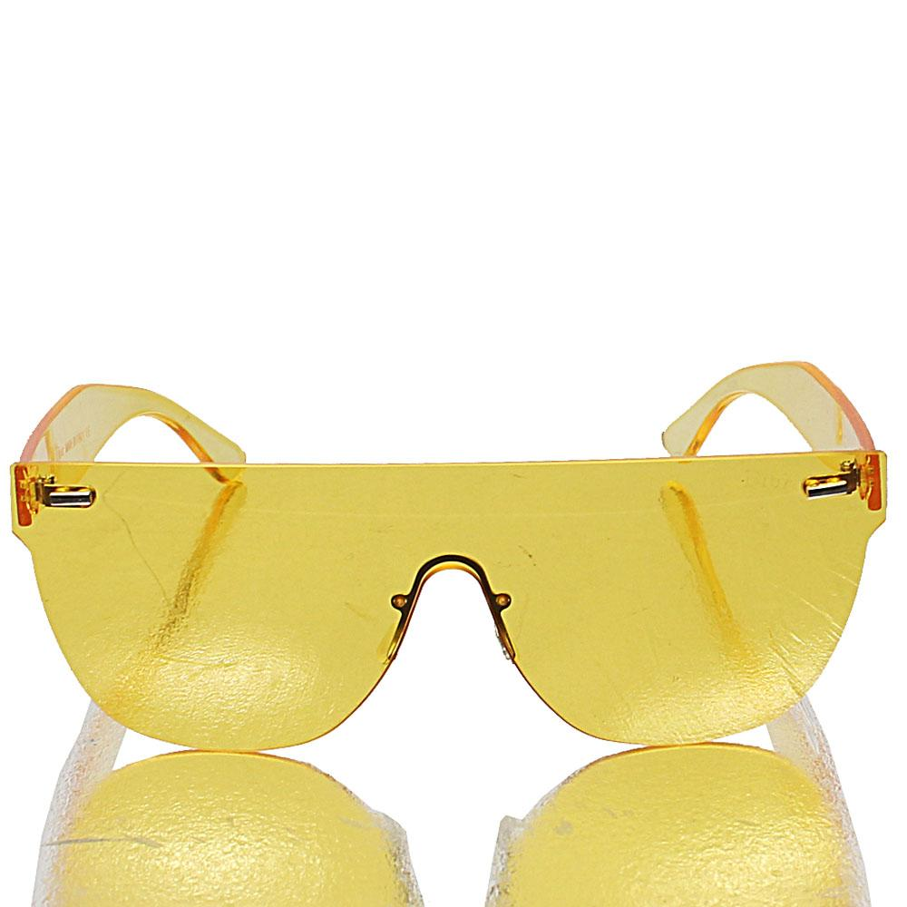 Rimless Shield Yellow Len Sunglasses