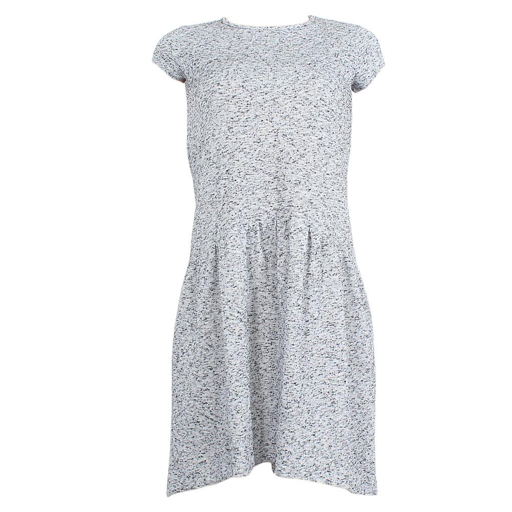 M  &  S Gray Cotton Sleeveless Dress Sz-Uk 10
