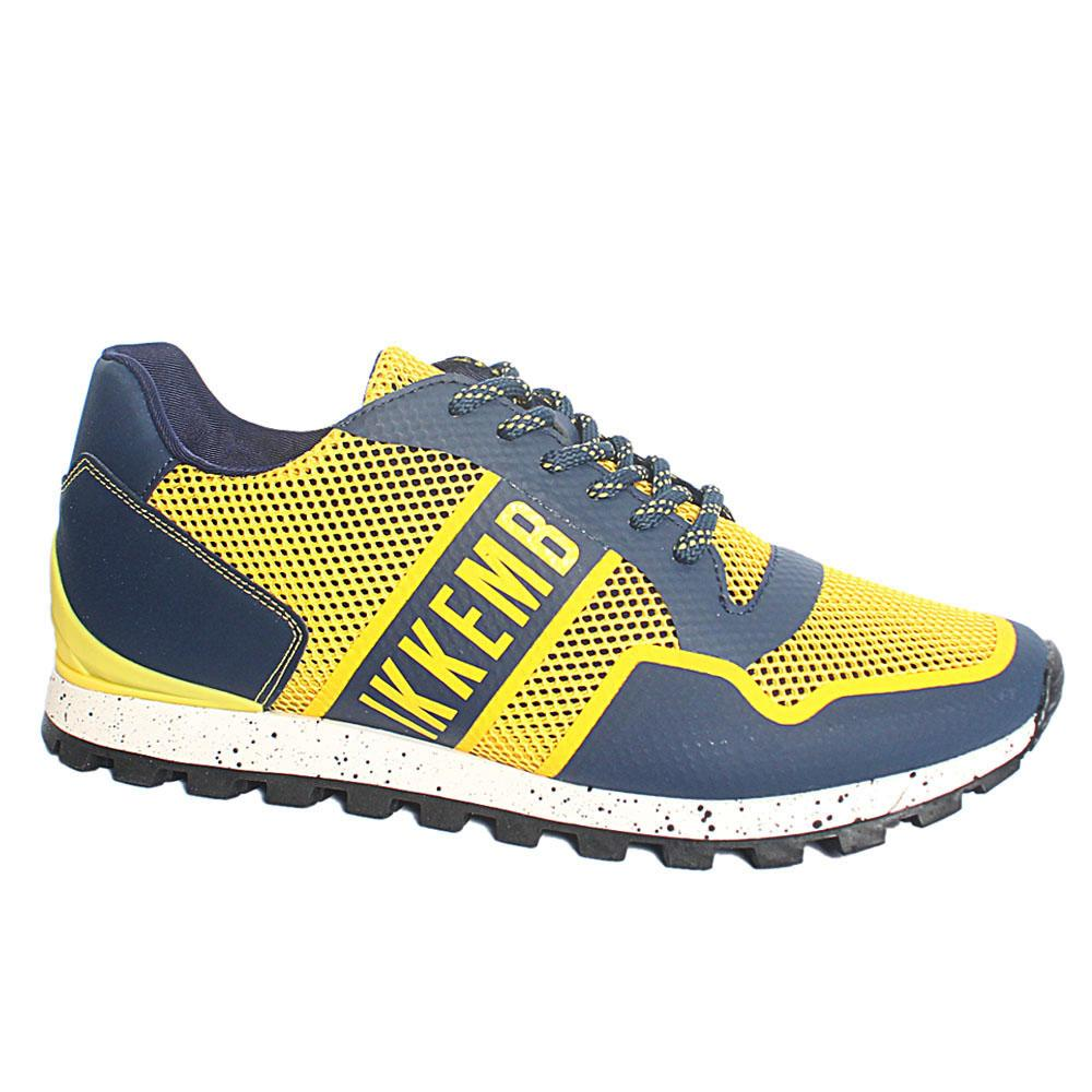 Yellow Blue Fender Breathable Fabric Sneakers
