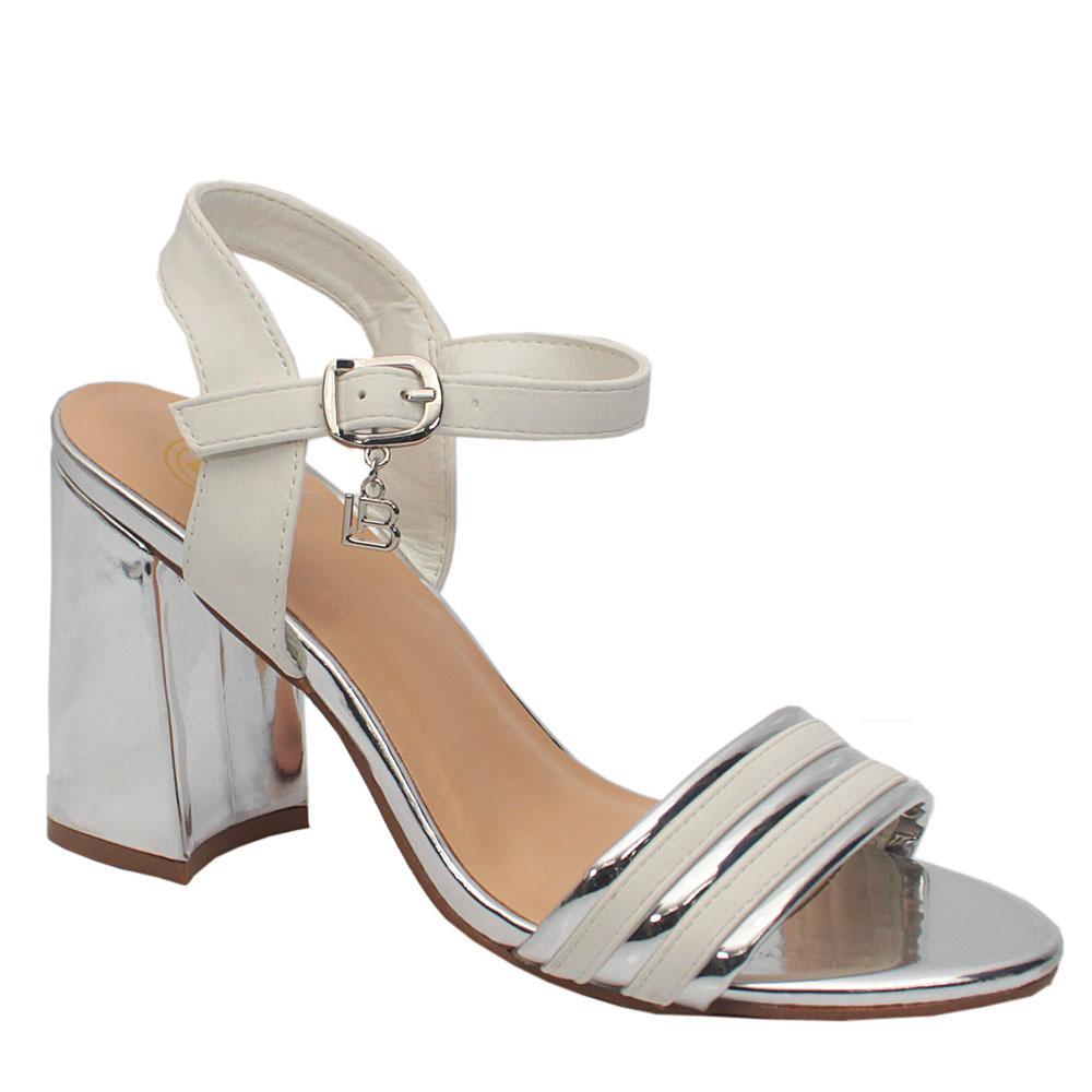 Biagiotti White Leather Heels