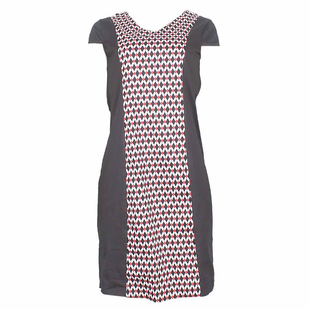 Li Cheng Black-Red Cotton Ladies Dress-XXL