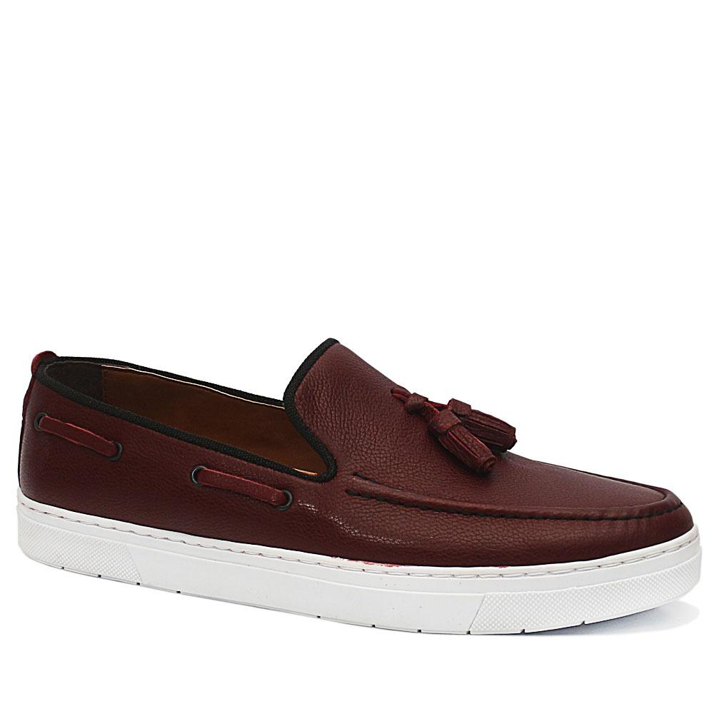 PC Collection Wine Bernard Leather Sneakers