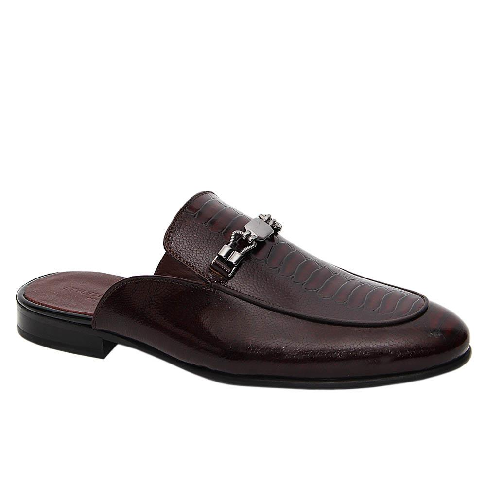 Coffee Gareth Italian Leather Half Shoe