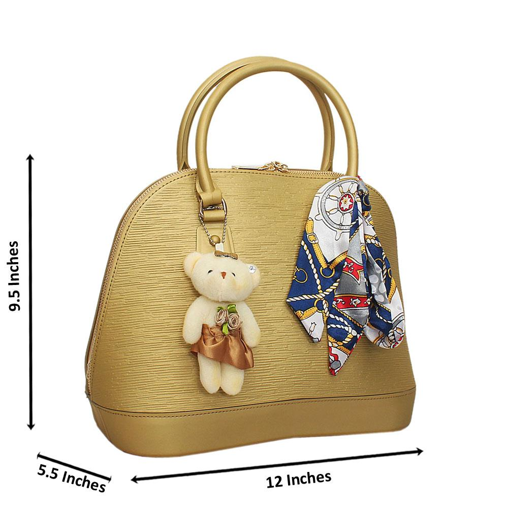 Gold Cute Barbie Rubber Tote Handbag