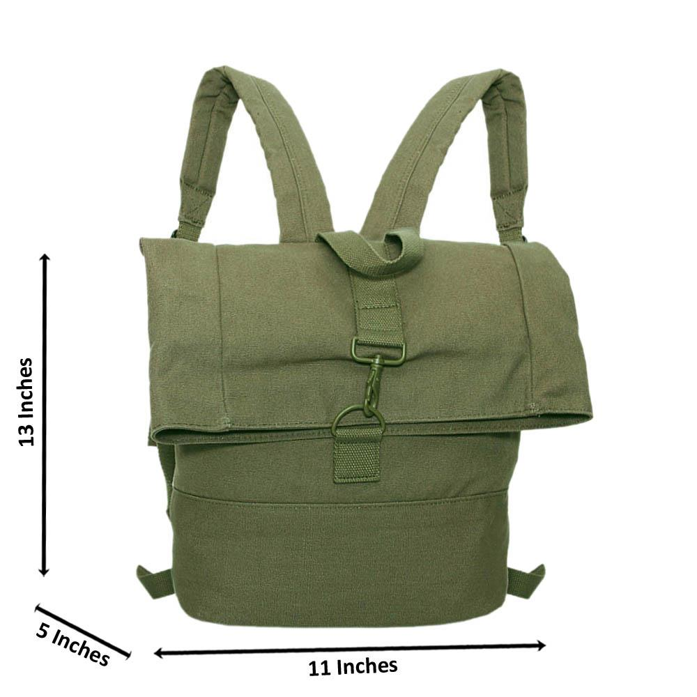 Desert Green Larry Fabric Backpack