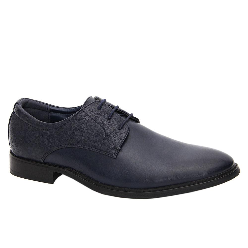 Navy Bart Leather Men Derby Shoes