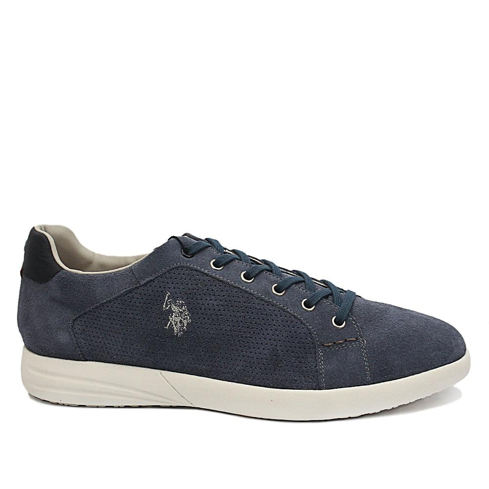 Sky Blue Trevor Suede Leather Sneakers