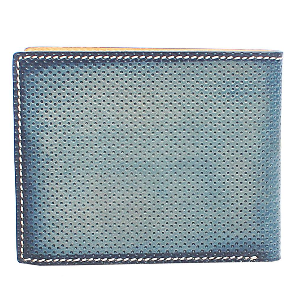 Blue Dotted Leather Wallet