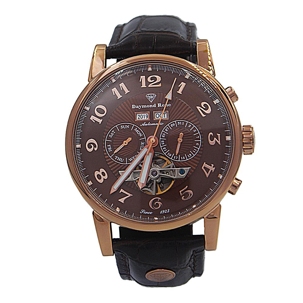 Coffee-Rose-Gold-Leather-Automatic-Watch