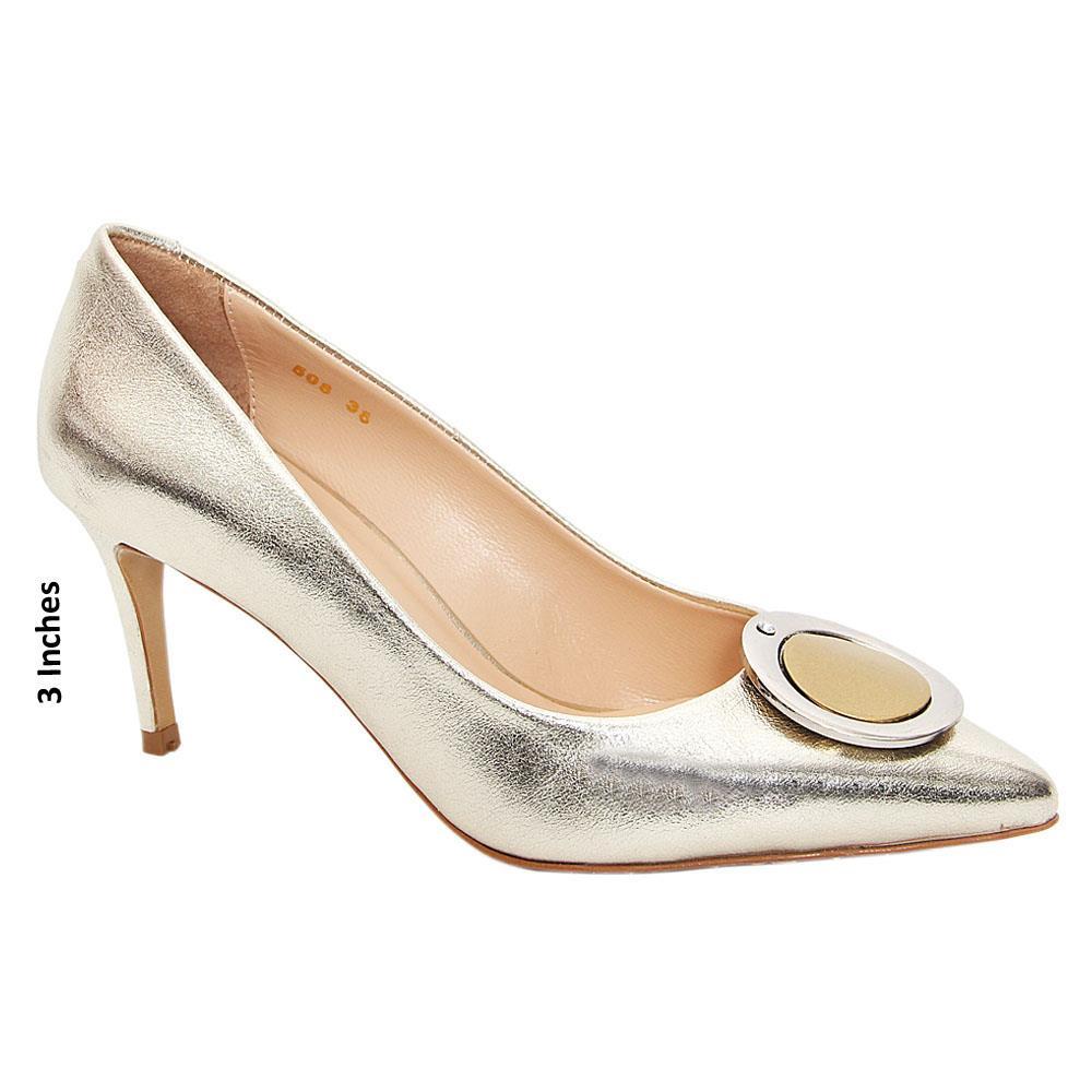 Gold Bella Tuscany High Heel Stiletto Pumps