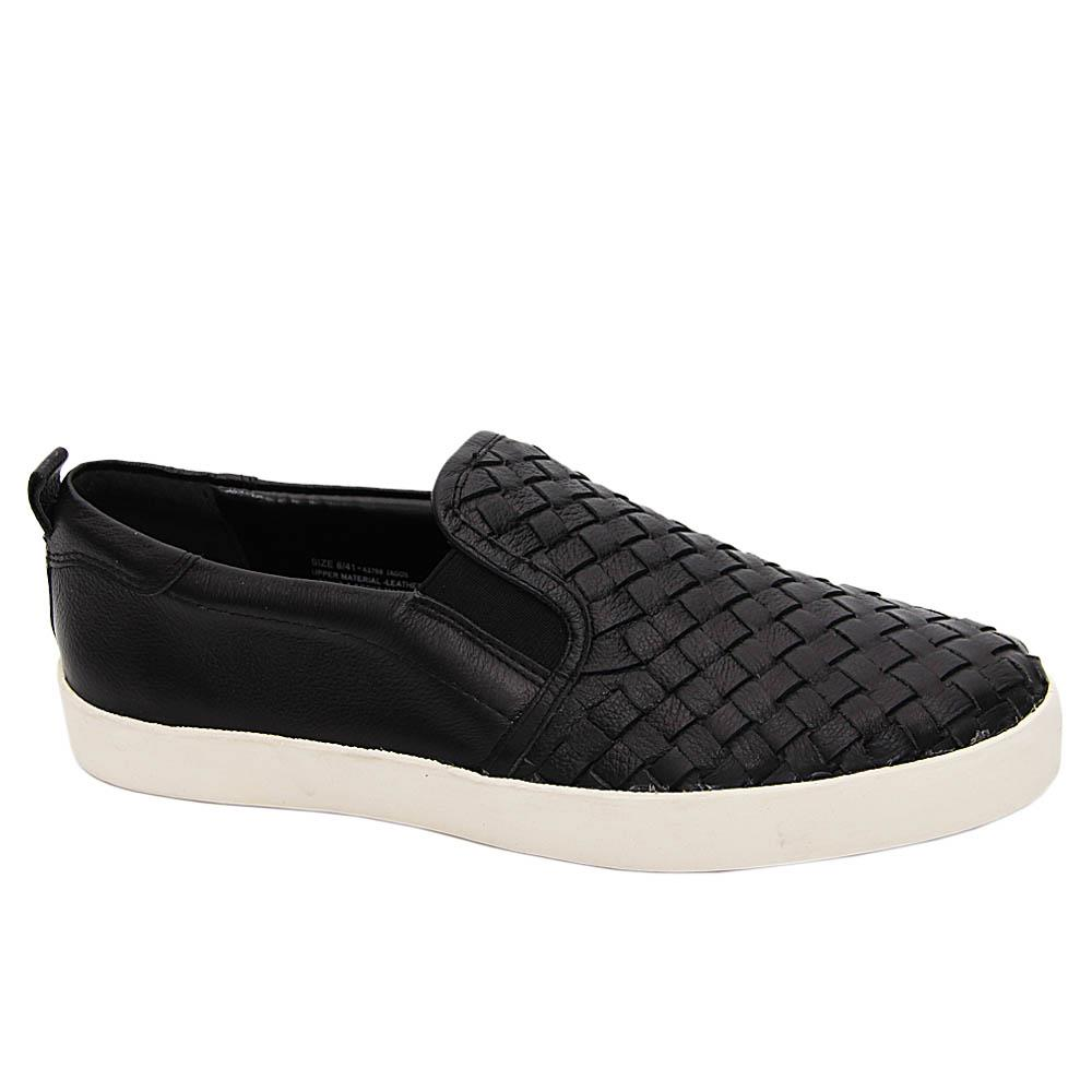 Black Merrick Woven Leather Sneakers