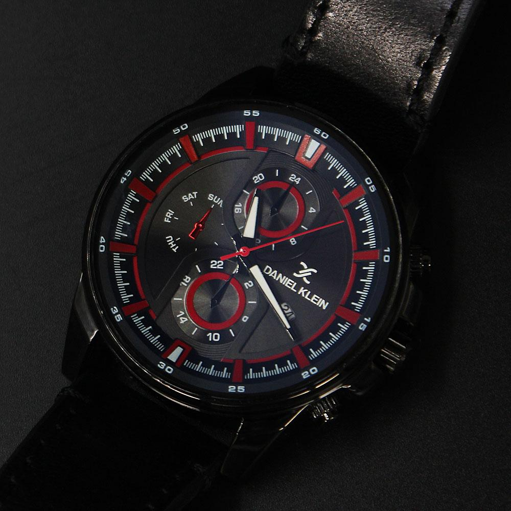 MileBlack Leather Pilot SeriesWatch