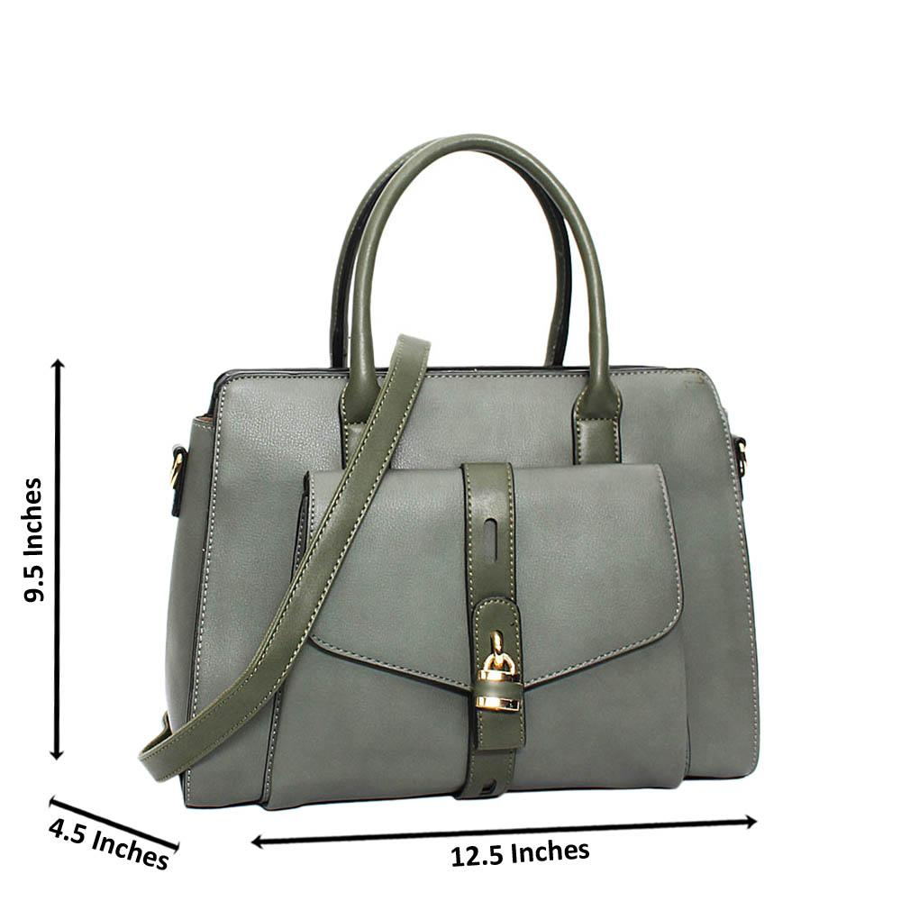 Tilt Green Aaliyah Leather Medium Tote Handbag