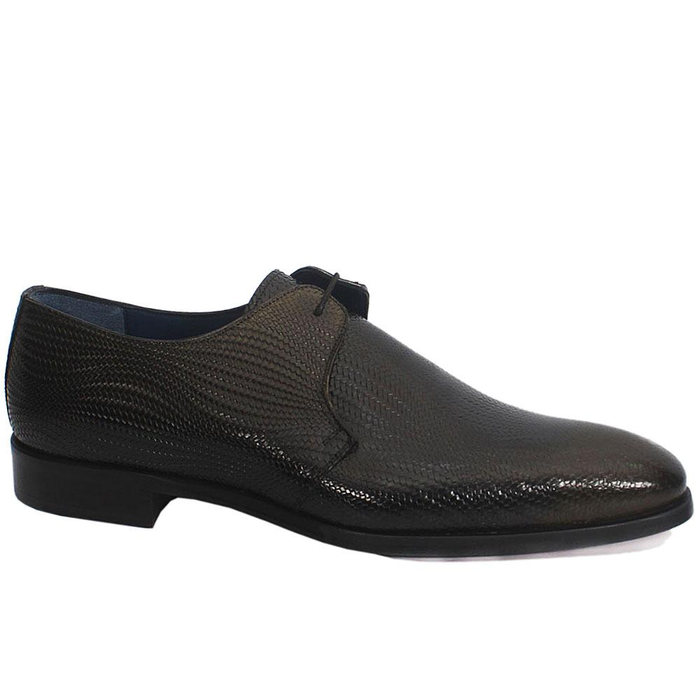 Gen-Black-Green-Mix-Twill-Leather-Highbury-Shoe