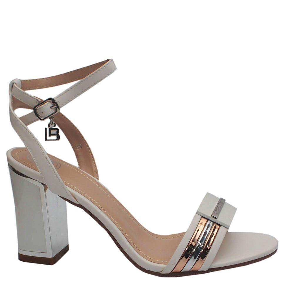 Sz 39 Biagiotti White Leather Heels